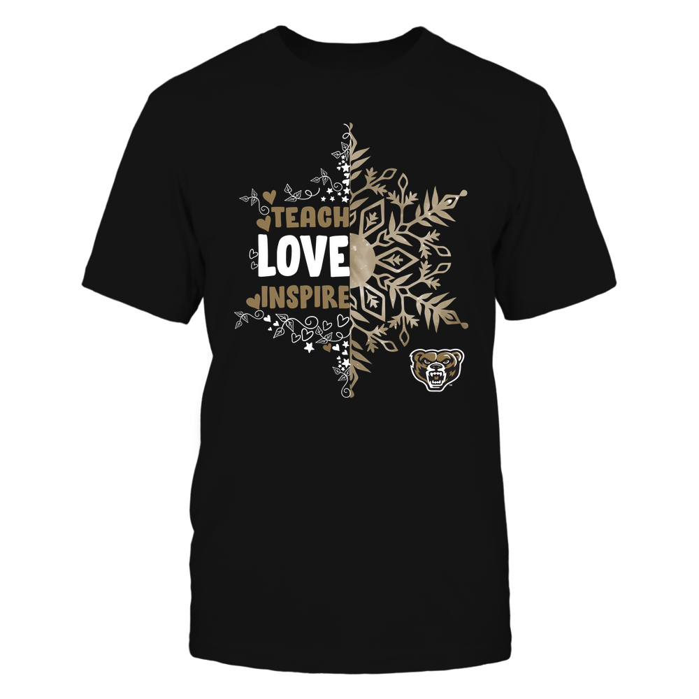 Oakland Golden Grizzlies - Christmas - Teach Love Inspire - Half Snowflake Front picture