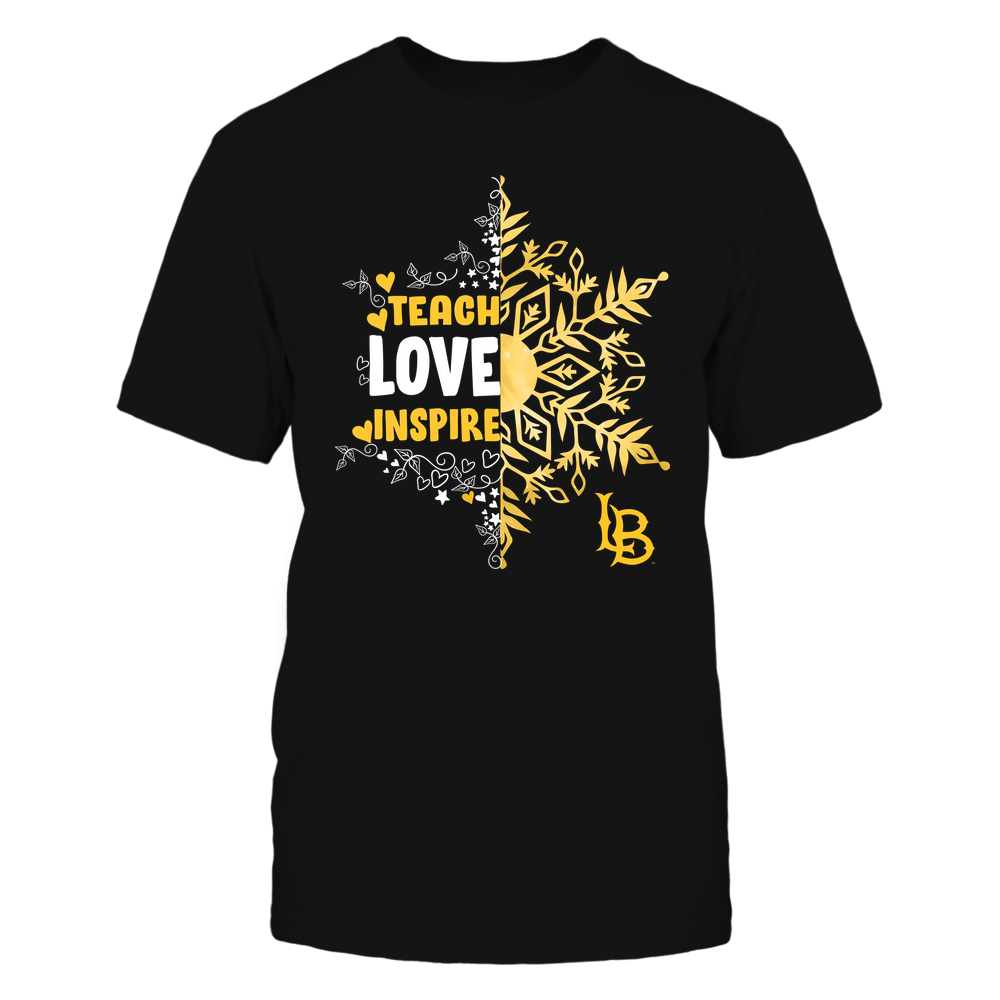 Long Beach State 49ers - Christmas - Teach Love Inspire - Half Snowflake Front picture