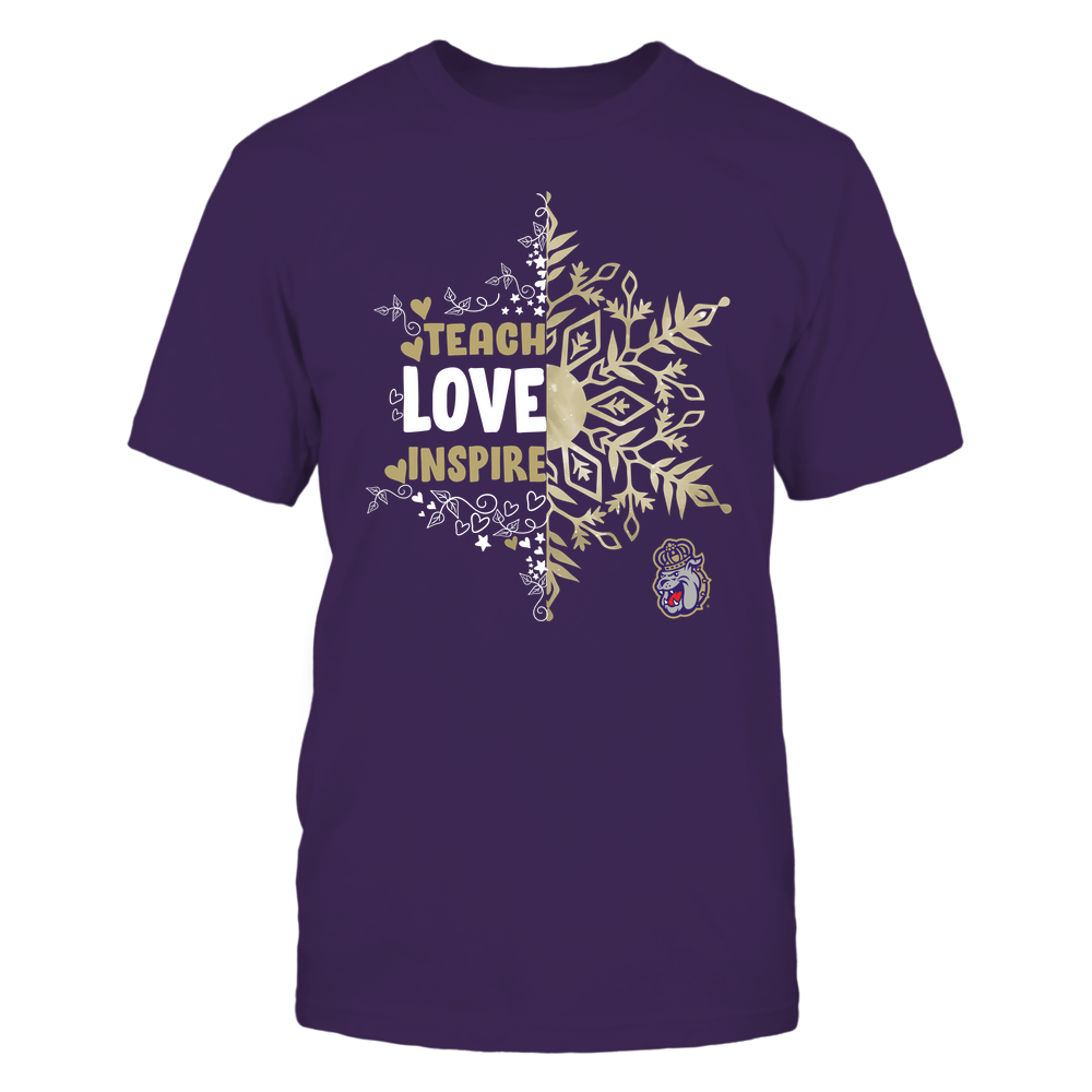 James Madison Dukes - Christmas - Teach Love Inspire - Half Snowflake Front picture