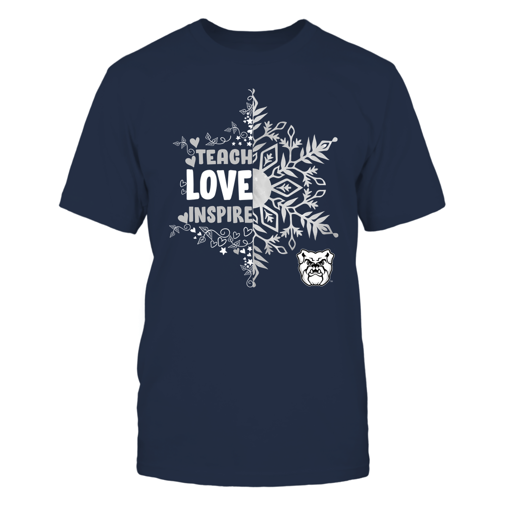 Butler Bulldogs - Christmas - Teach Love Inspire - Half Snowflake Front picture