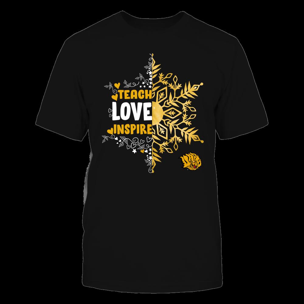 Arkansas Pine Bluff Golden Lions - Christmas - Teach Love Inspire - Half Snowflake Front picture