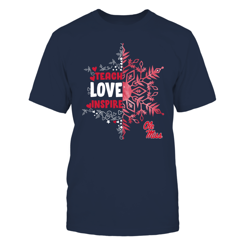 Ole Miss Rebels - Christmas - Teach Love Inspire - Half Snowflake Front picture