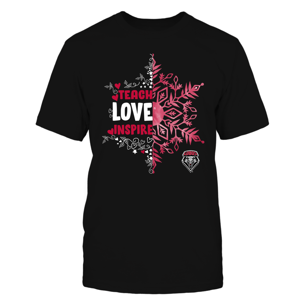 New Mexico Lobos - Christmas - Teach Love Inspire - Half Snowflake Front picture