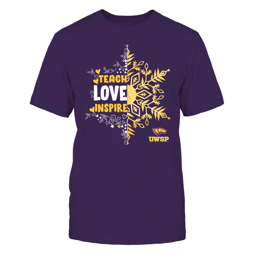 Wisconsin-Stevens Point Pointers - Christmas - Teach Love Inspire - Half Snowflake Front picture