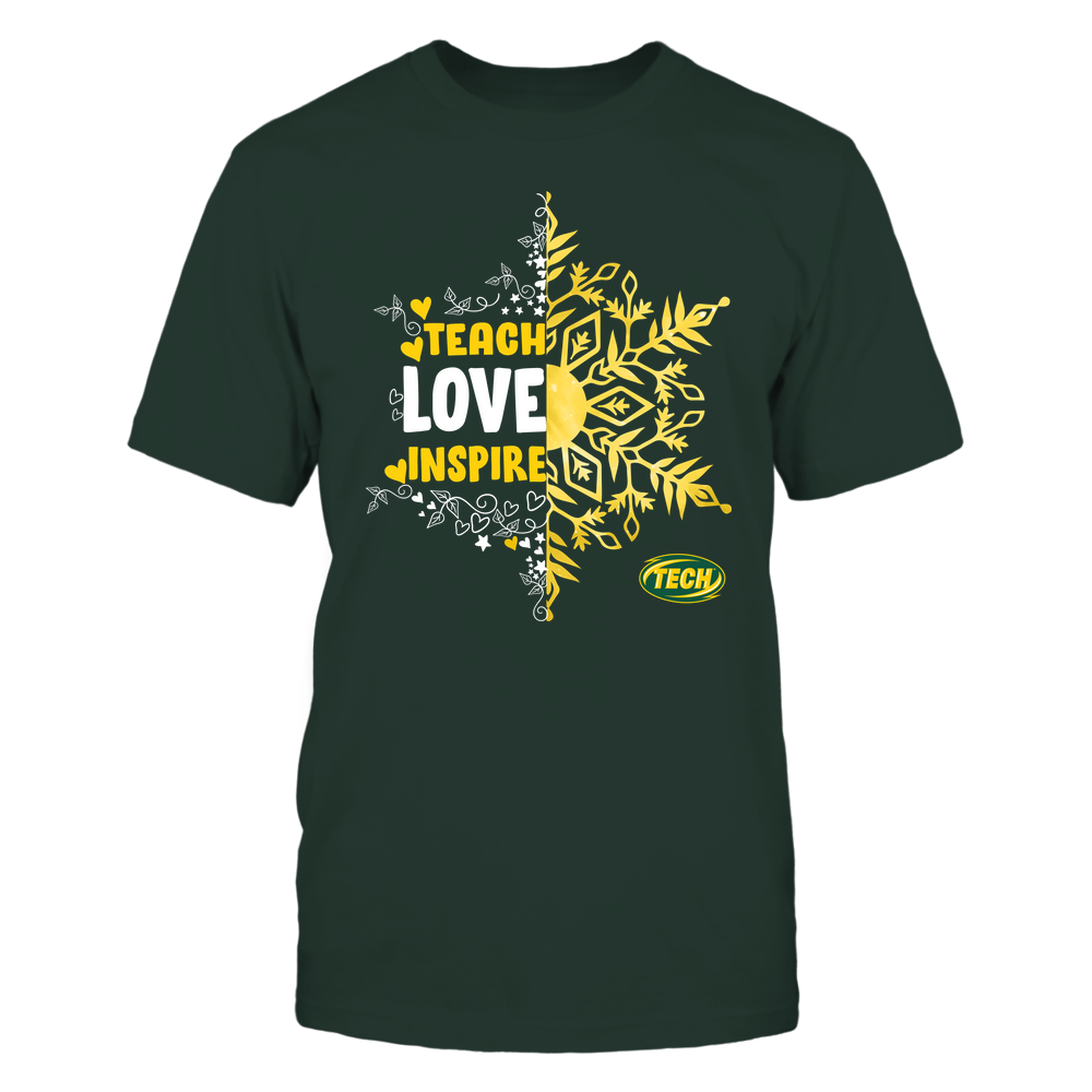 Arkansas Tech Golden Suns - Christmas - Teach Love Inspire - Half Snowflake Front picture