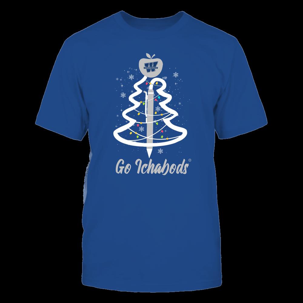 Washburn Ichabods - Christmas - Teacher Pen Christmas Tree - Team Front picture