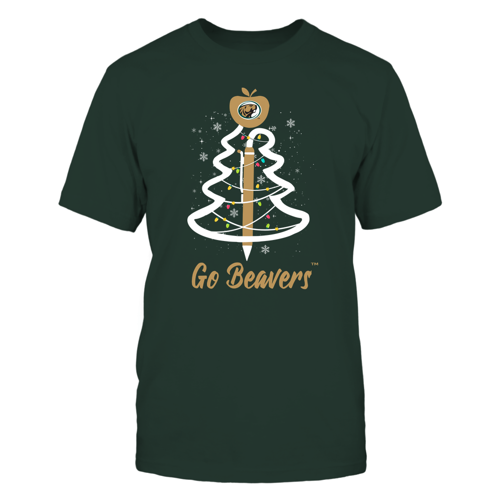 Bemidji State Beavers - Christmas - Teacher Pen Christmas Tree - Team Front picture