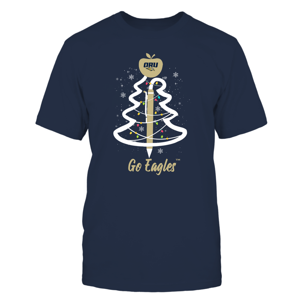 Oral Roberts Golden Eagles - Christmas - Teacher Pen Christmas Tree - Team Front picture
