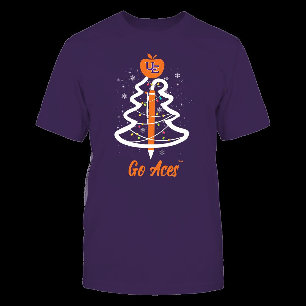 Evansville Purple Aces - Christmas - Teacher Pen Christmas Tree - Team Front picture