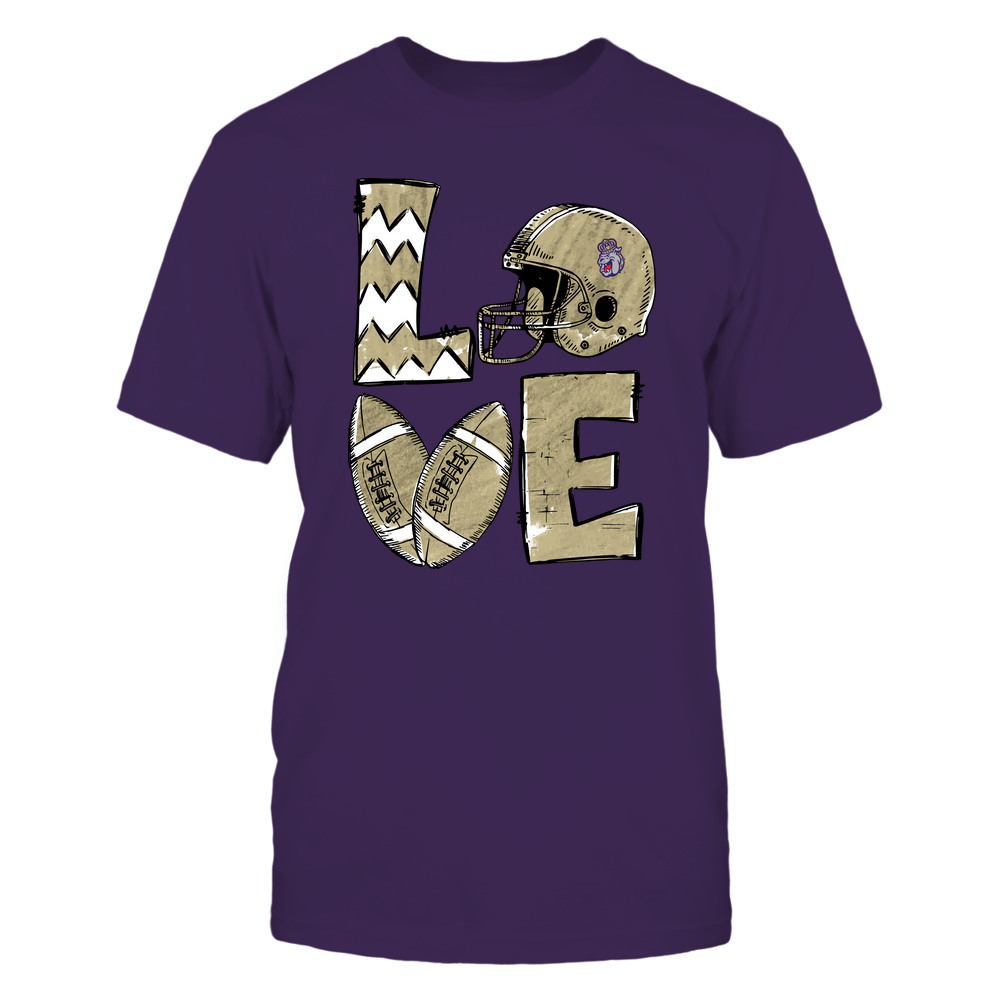 James Madison Dukes - Football Stacked Love Helmet  - Hand Draw - Team Front picture