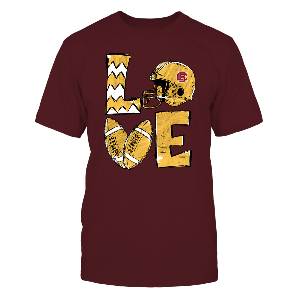 Bethune-Cookman Wildcats - Football Stacked Love Helmet  - Hand Draw - Team Front picture