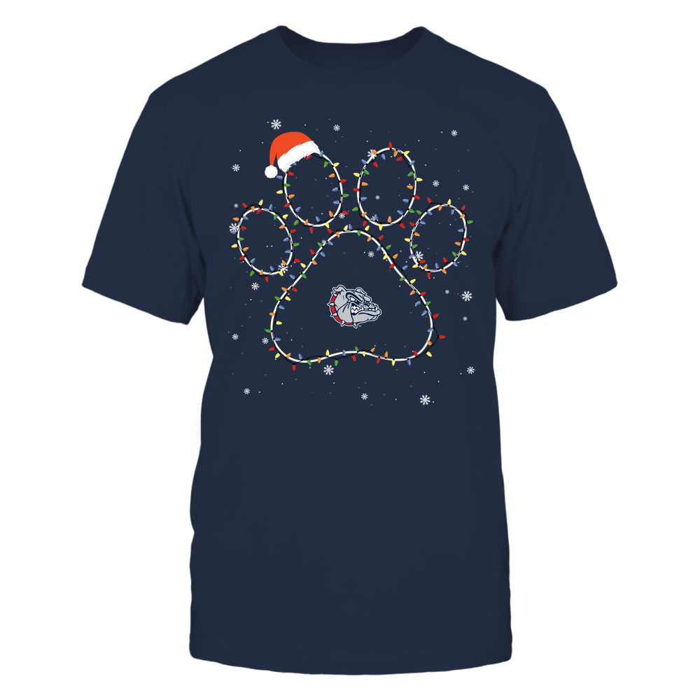 Gonzaga Bulldogs - Christmas - Christmas Light Paw - Team Front picture