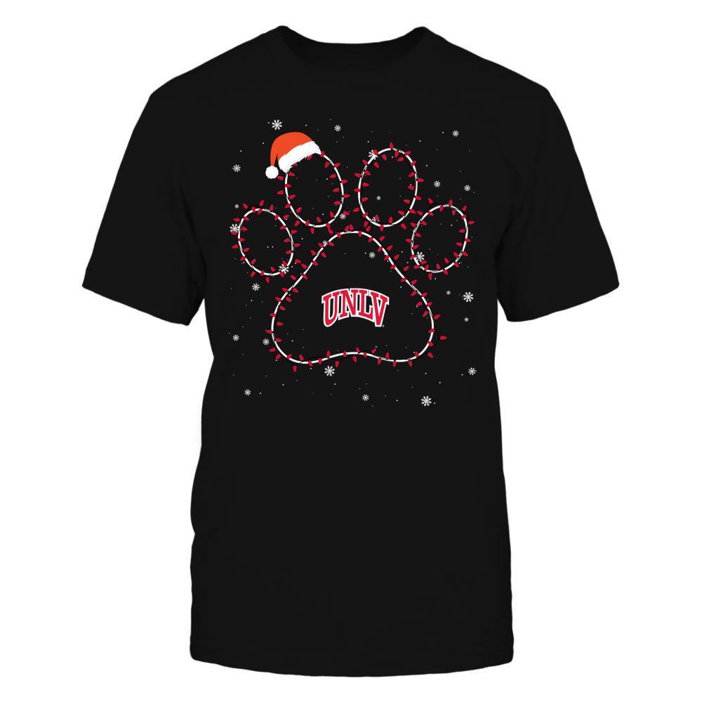 UNLV Rebels - Christmas - Christmas Light Paw Team Color - Team Front picture