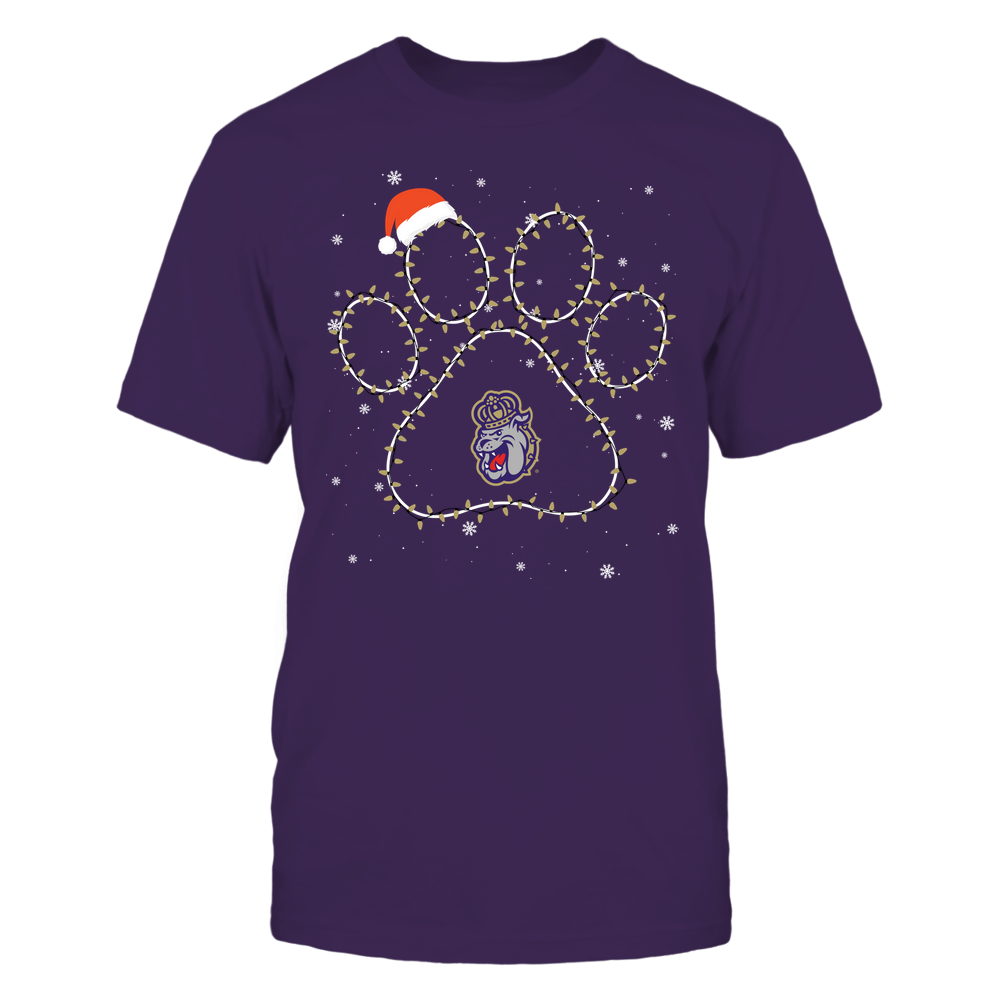 James Madison Dukes - Christmas - Christmas Light Paw Team Color - Team Front picture