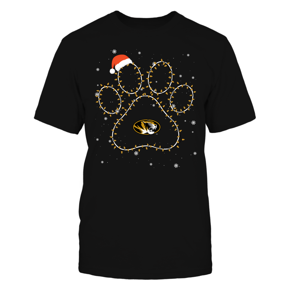 Mizzou Tigers - Christmas - Christmas Light Paw Team Color - Team Front picture
