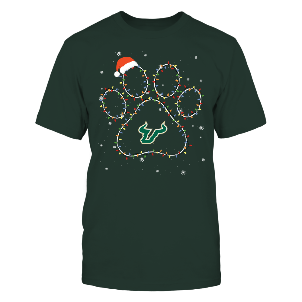 South Florida Bulls - Christmas - Christmas Light Paw - Team Front picture