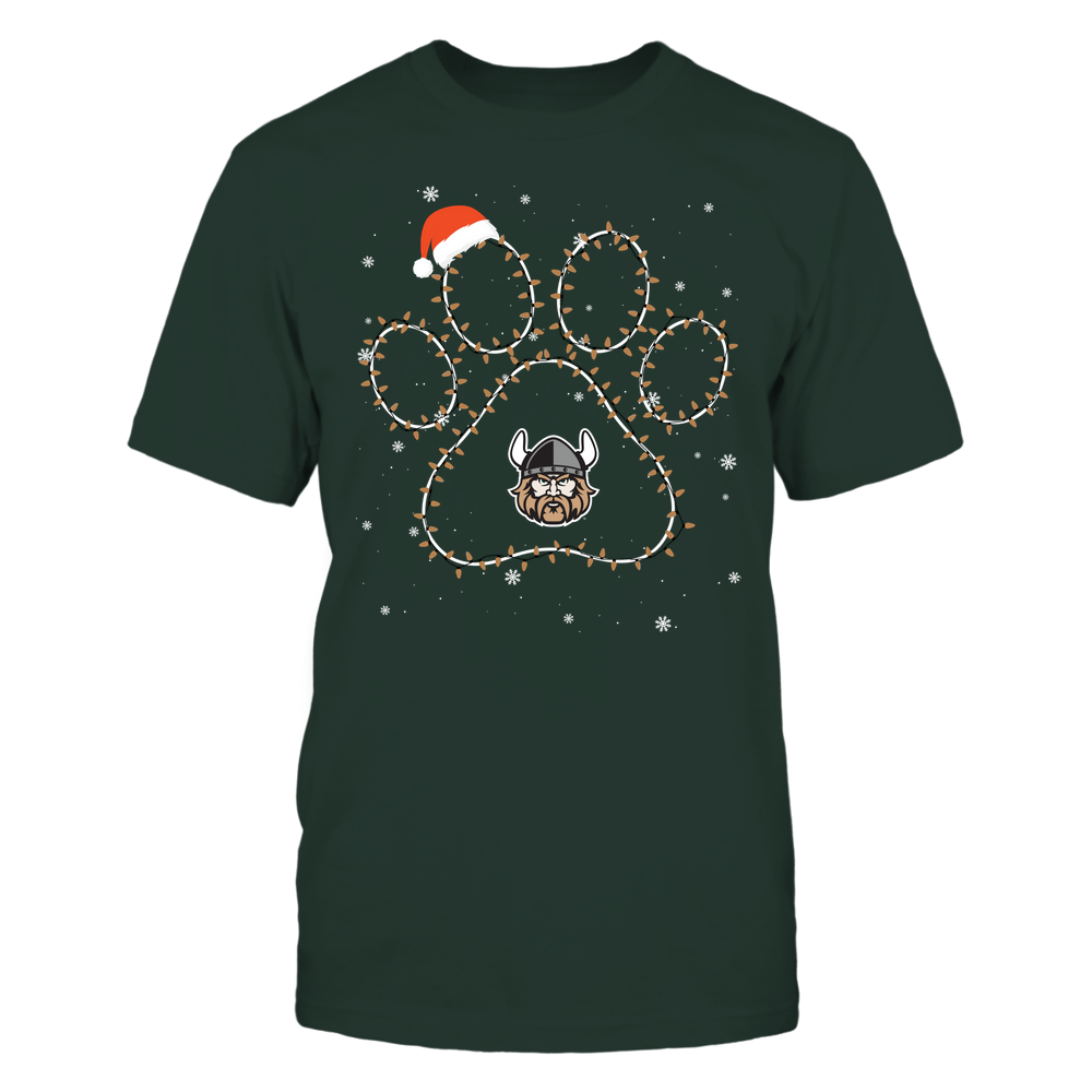 Cleveland State Vikings - Christmas - Christmas Light Paw Team Color - Team Front picture