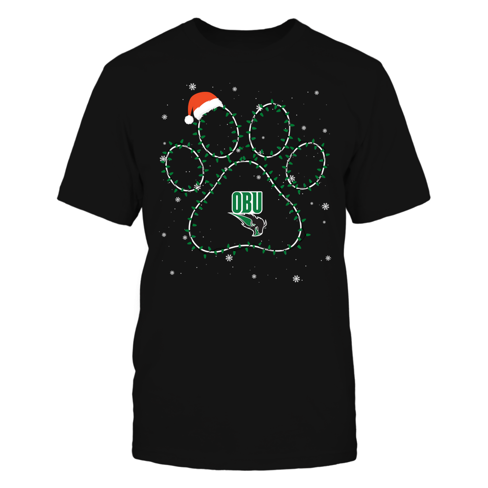 Oklahoma Baptist Bison - Christmas - Christmas Light Paw Team Color - Team Front picture