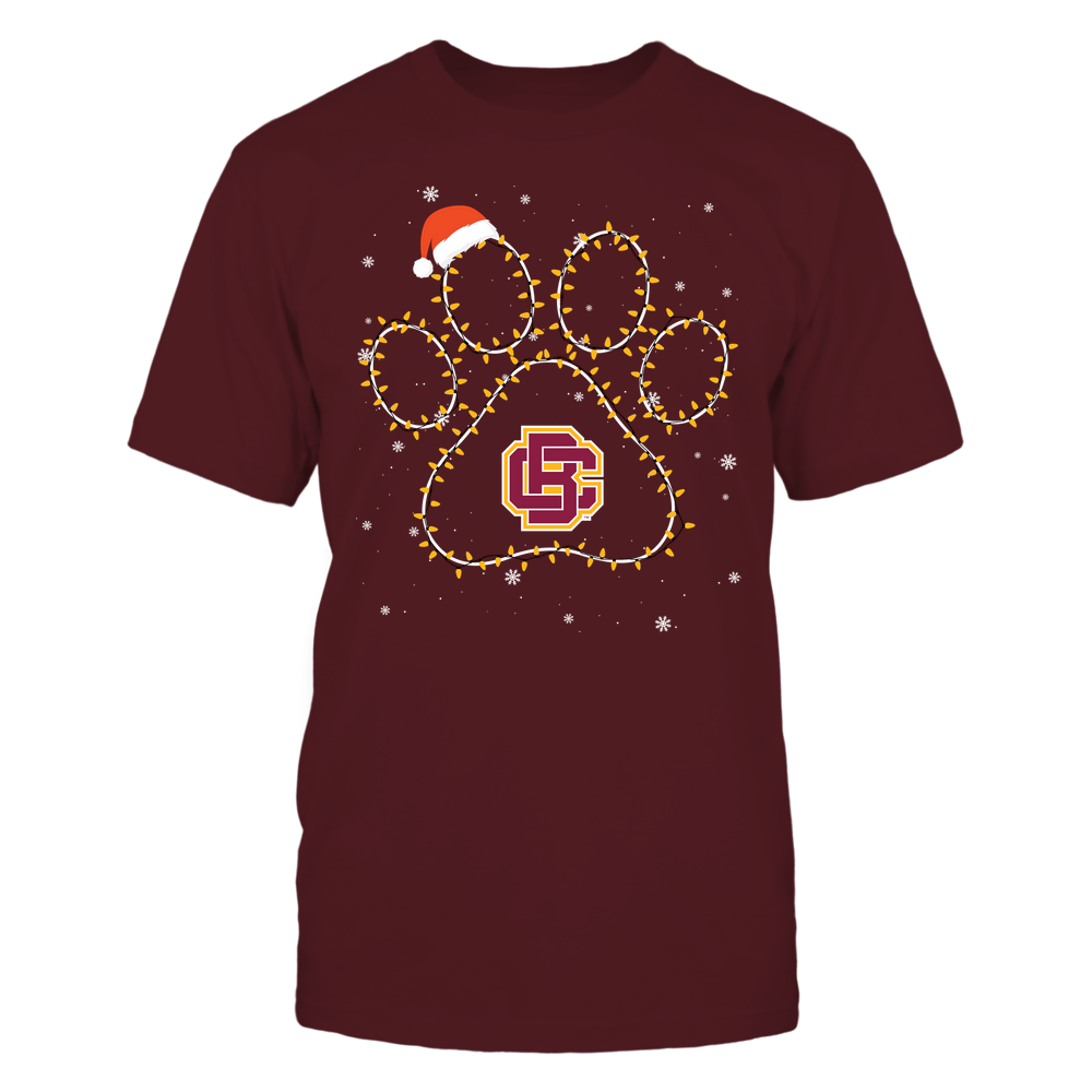 Bethune-Cookman Wildcats - Christmas - Christmas Light Paw Team Color - Team Front picture
