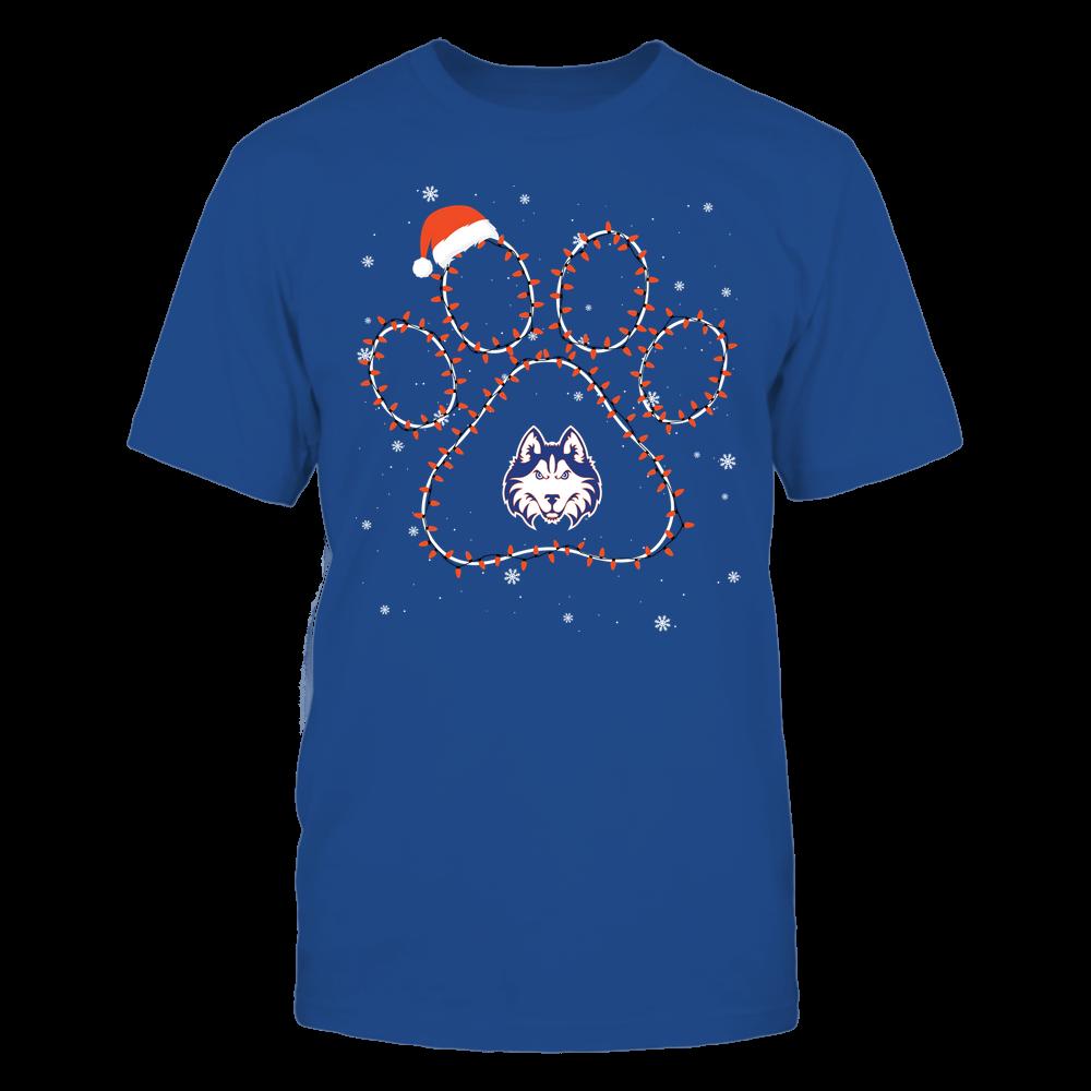 Houston Baptist Huskies - Christmas - Christmas Light Paw Team Color - Team Front picture