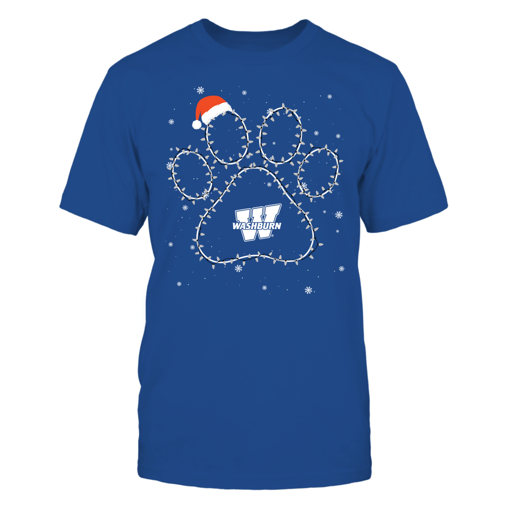 Washburn Ichabods - Christmas - Christmas Light Paw Team Color - Team Front picture