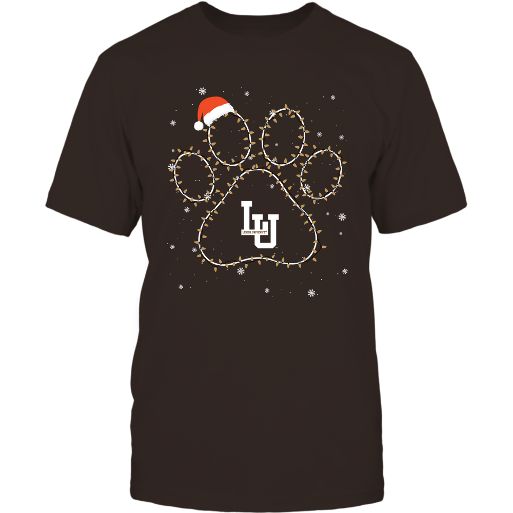 Lehigh Mountain Hawks - Christmas - Christmas Light Paw Team Color - Team Front picture