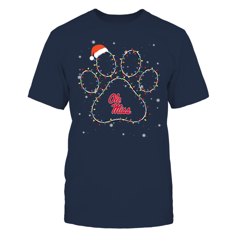Ole Miss Rebels - Christmas - Christmas Light Paw - Team Front picture