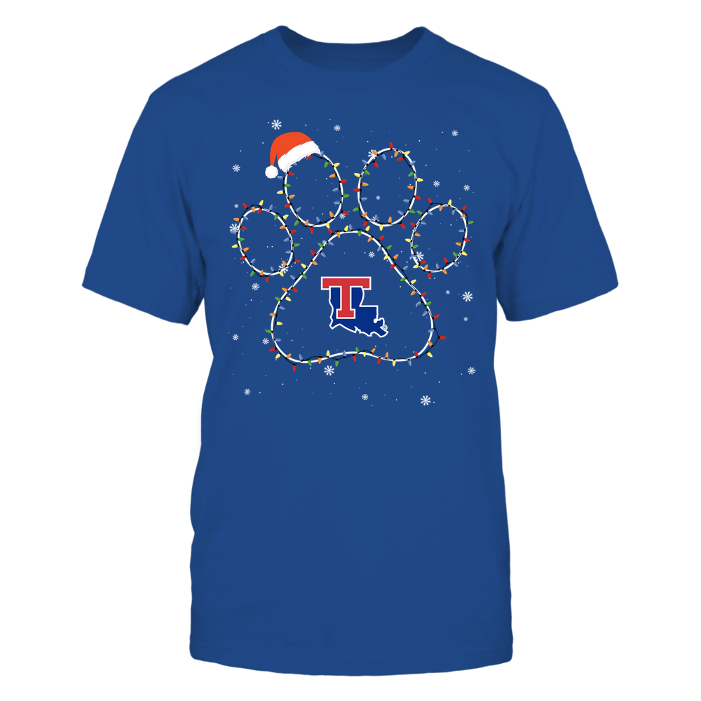 Louisiana Tech Bulldogs - Christmas - Christmas Light Paw - Team Front picture