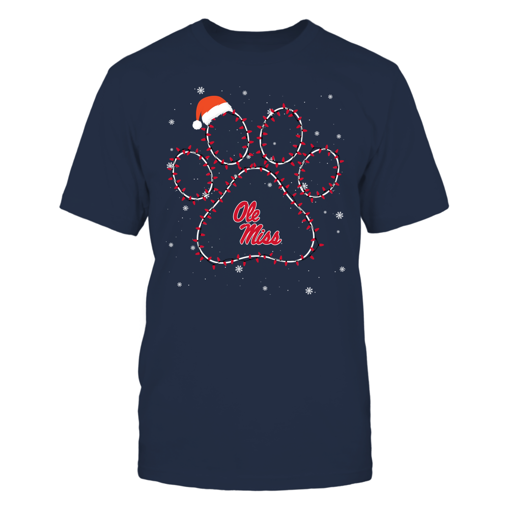 Ole Miss Rebels - Christmas - Christmas Light Paw Team Color - Team Front picture