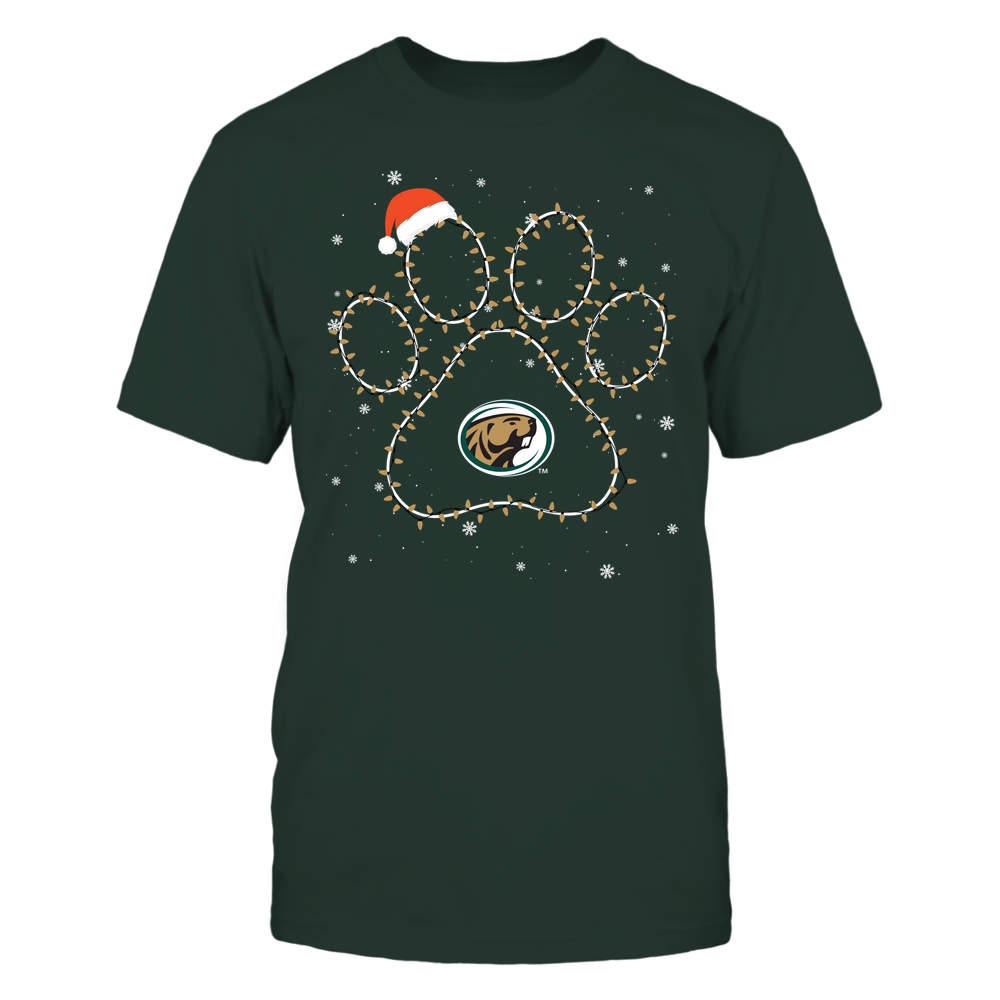 Bemidji State Beavers - Christmas - Christmas Light Paw Team Color - Team Front picture