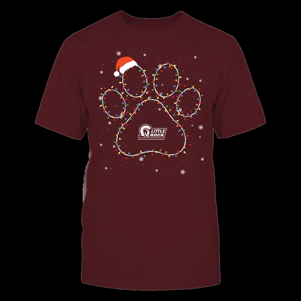 Arkansas Little Rock Trojans - Christmas - Christmas Light Paw - Team Front picture