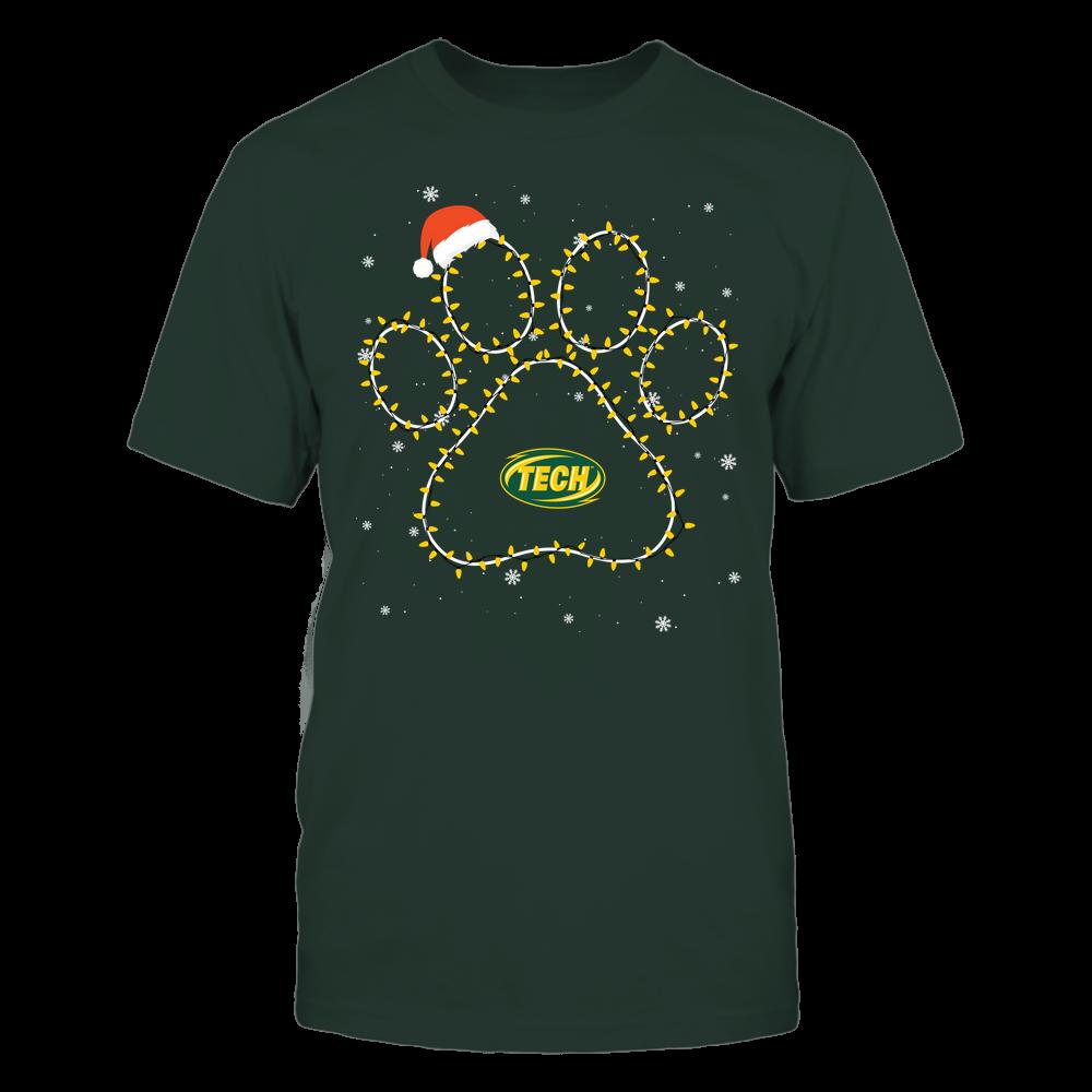 Arkansas Tech Golden Suns - Christmas - Christmas Light Paw Team Color - Team Front picture