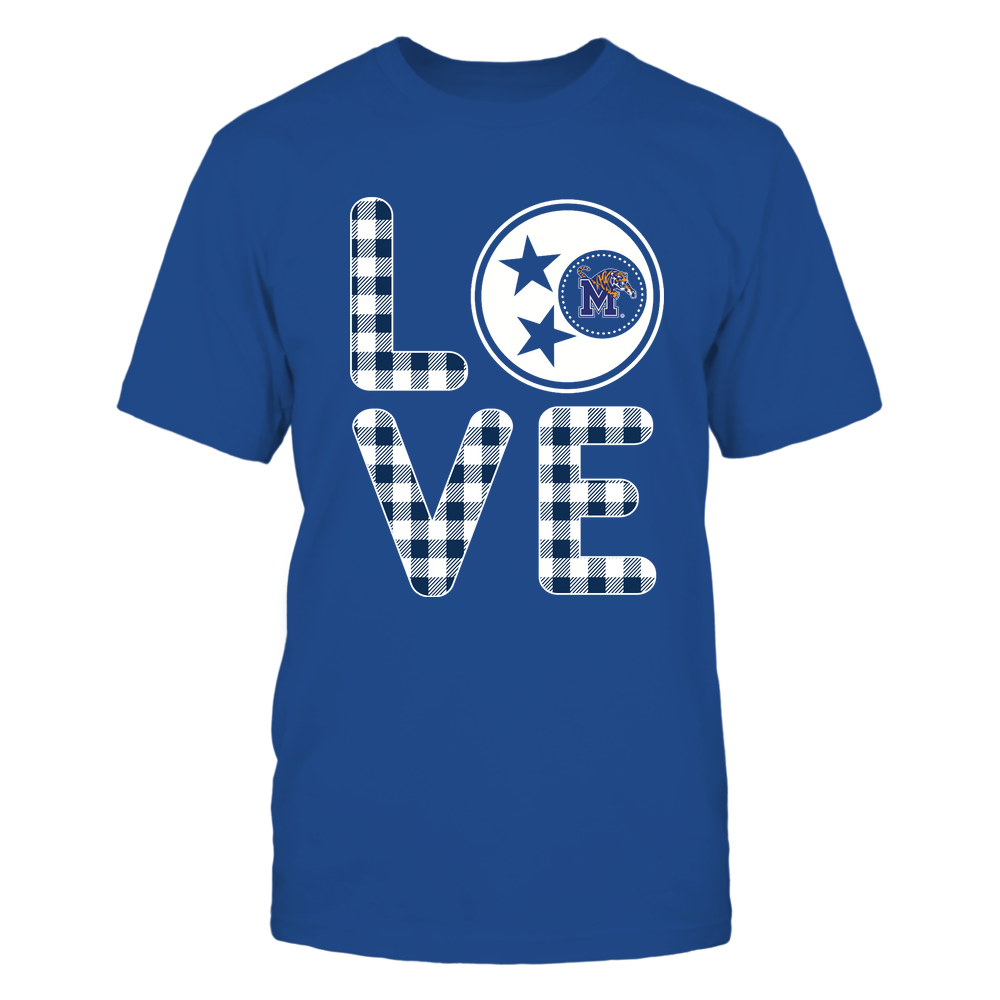 Memphis Tigers - Stacked Love - Tristar - Checkered Pattern - IF13-IC13-DS83 Front picture