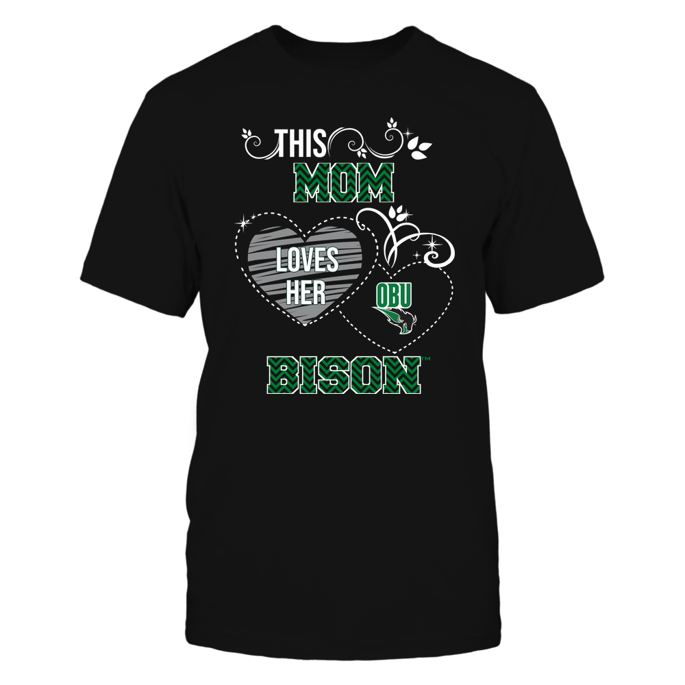 Oklahoma Baptist Bison - This Mom Loves Team ^ Mascot ^ Chevron Pattern Front picture