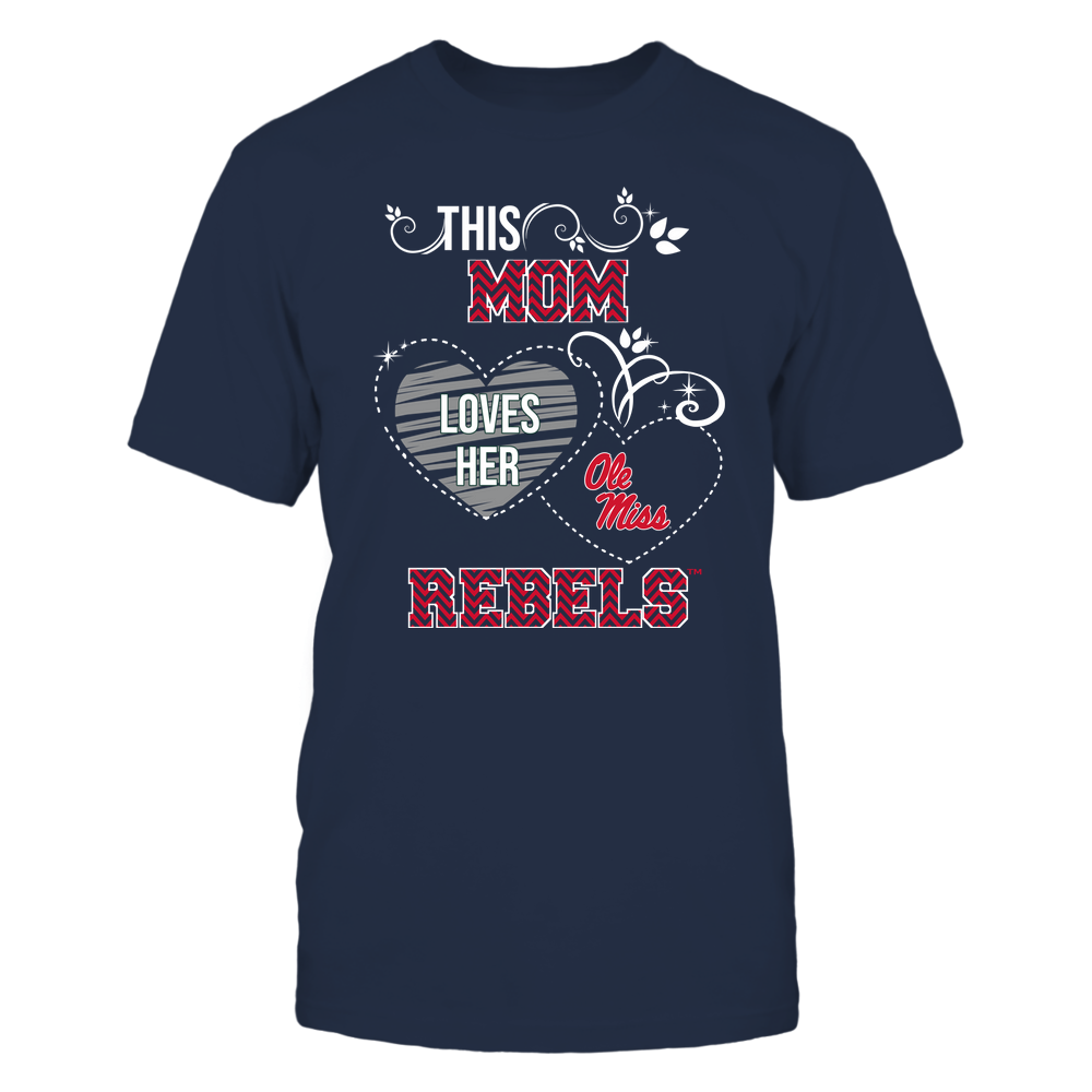 Ole Miss Rebels - This Mom Loves Team ^ Mascot ^ Chevron Pattern Front picture