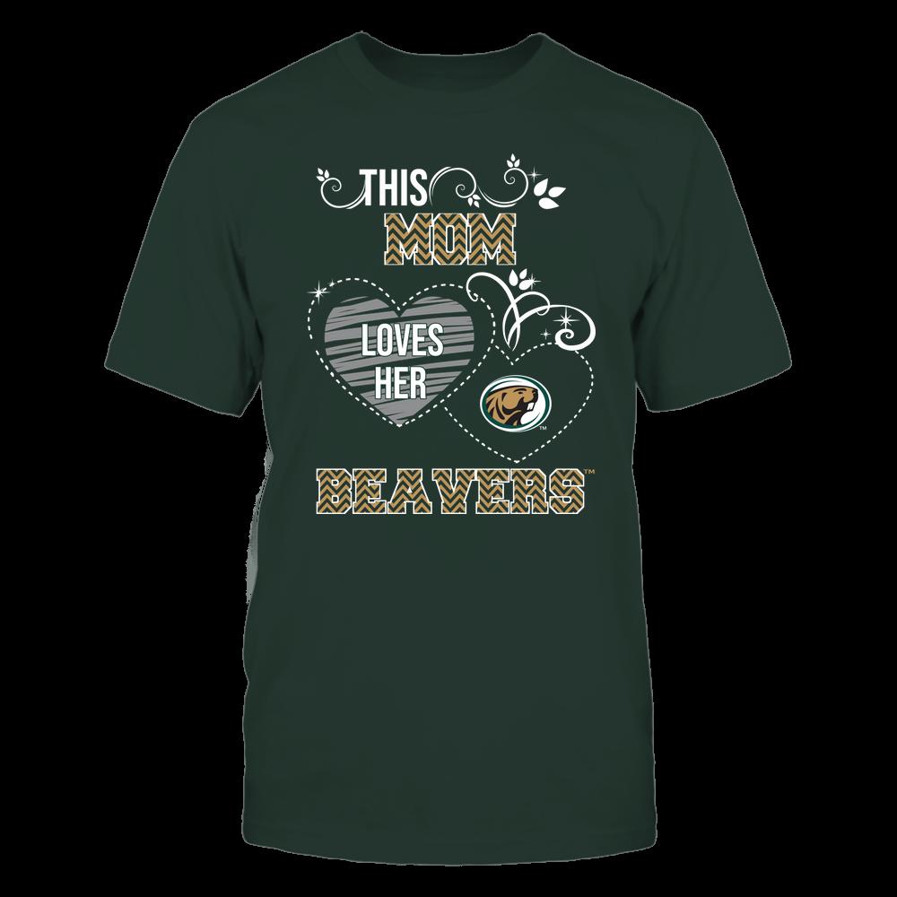 Bemidji State Beavers - This Mom Loves Team ^ Mascot ^ Chevron Pattern Front picture