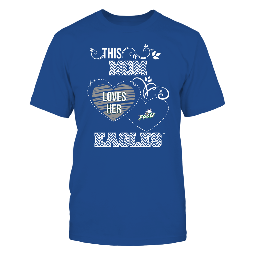 Florida Gulf Coast Eagles - This Mom Loves Team ^ Mascot ^ Chevron Pattern Front picture