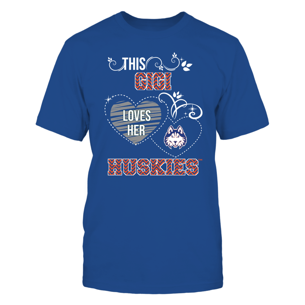 Houston Baptist Huskies - This Gigi Loves Team - Mascot - Chevron Pattern Front picture