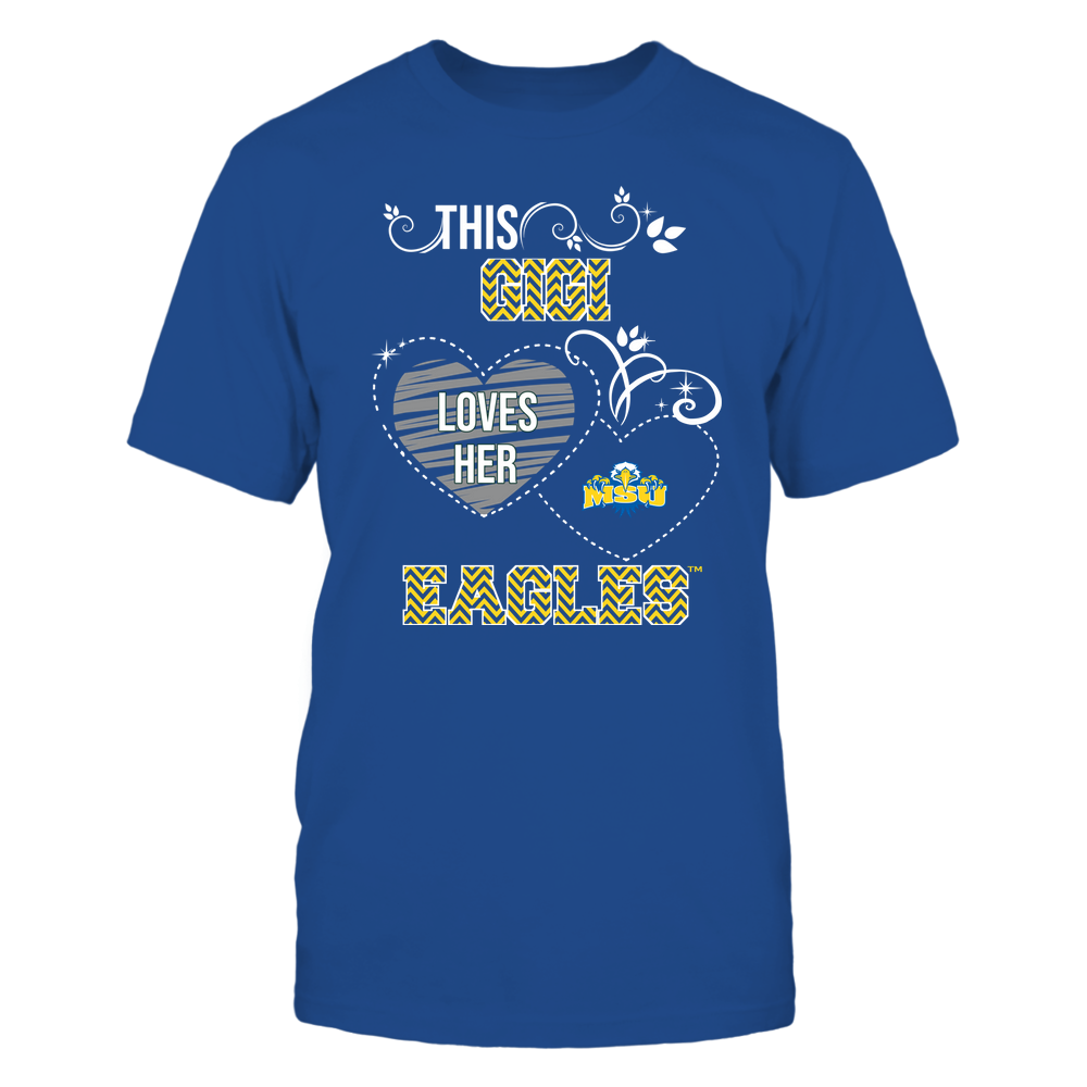 Morehead State Eagles - This Gigi Loves Team - Mascot - Chevron Pattern Front picture