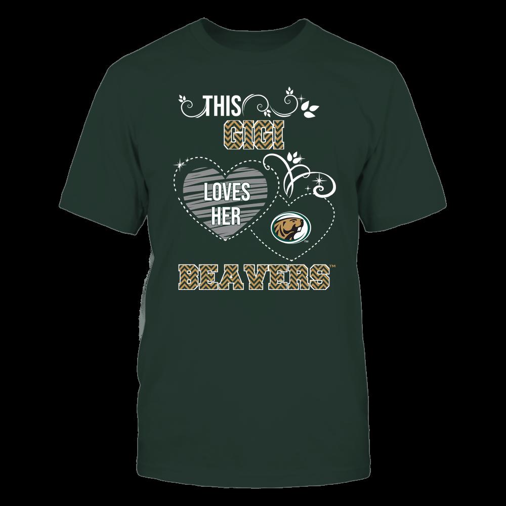 Bemidji State Beavers - This Gigi Loves Team - Mascot - Chevron Pattern Front picture