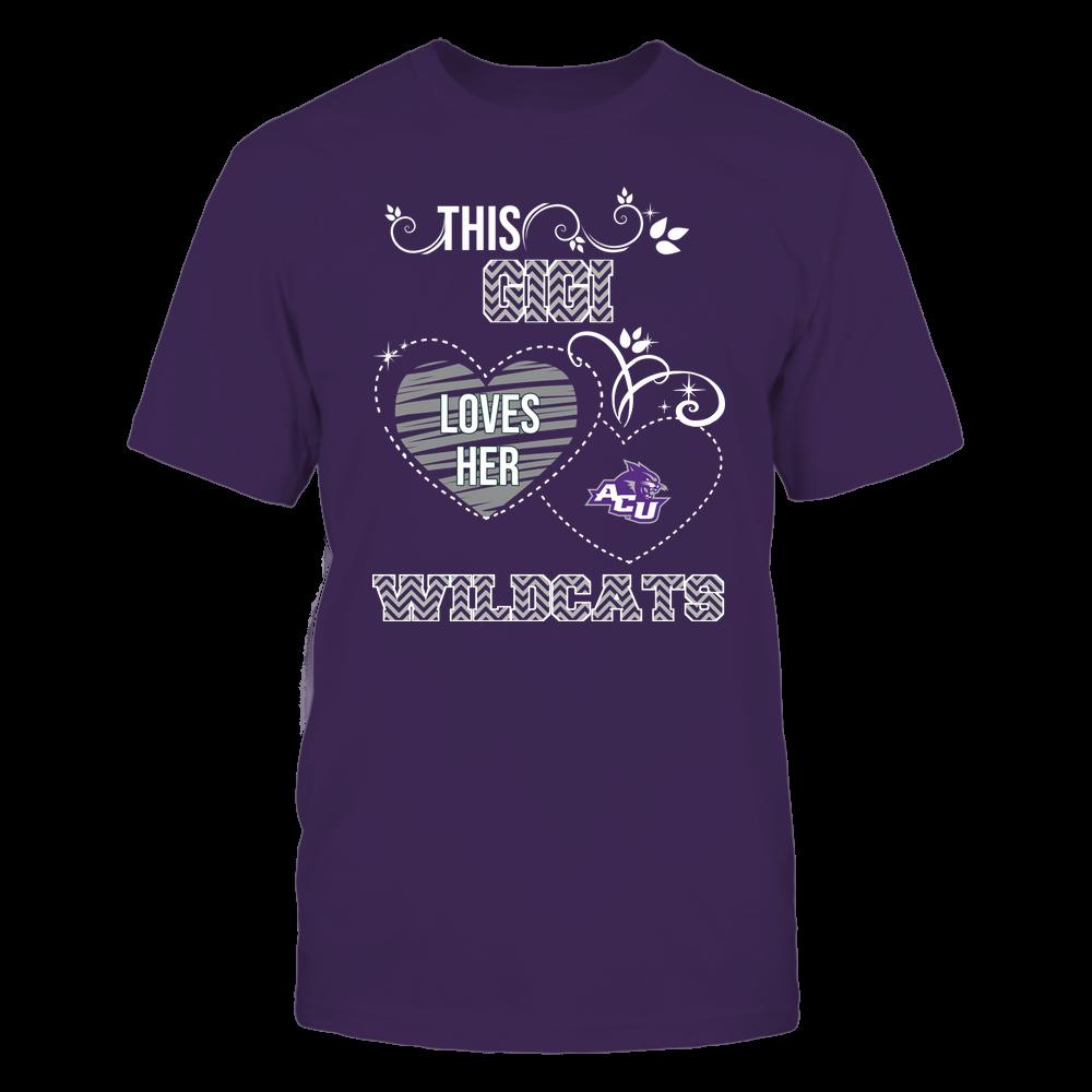 Abilene Christian Wildcats - This Gigi Loves Team - Mascot - Chevron Pattern Front picture