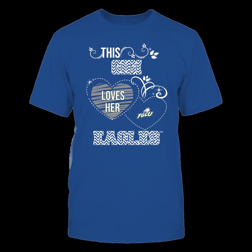 Florida Gulf Coast Eagles - This Gigi Loves Team - Mascot - Chevron Pattern Front picture