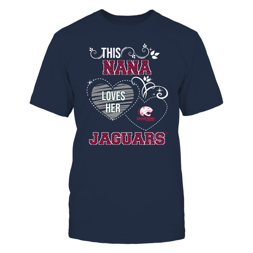 South Alabama Jaguars - This Nana Loves Team - Mascot - Chevron Pattern Front picture