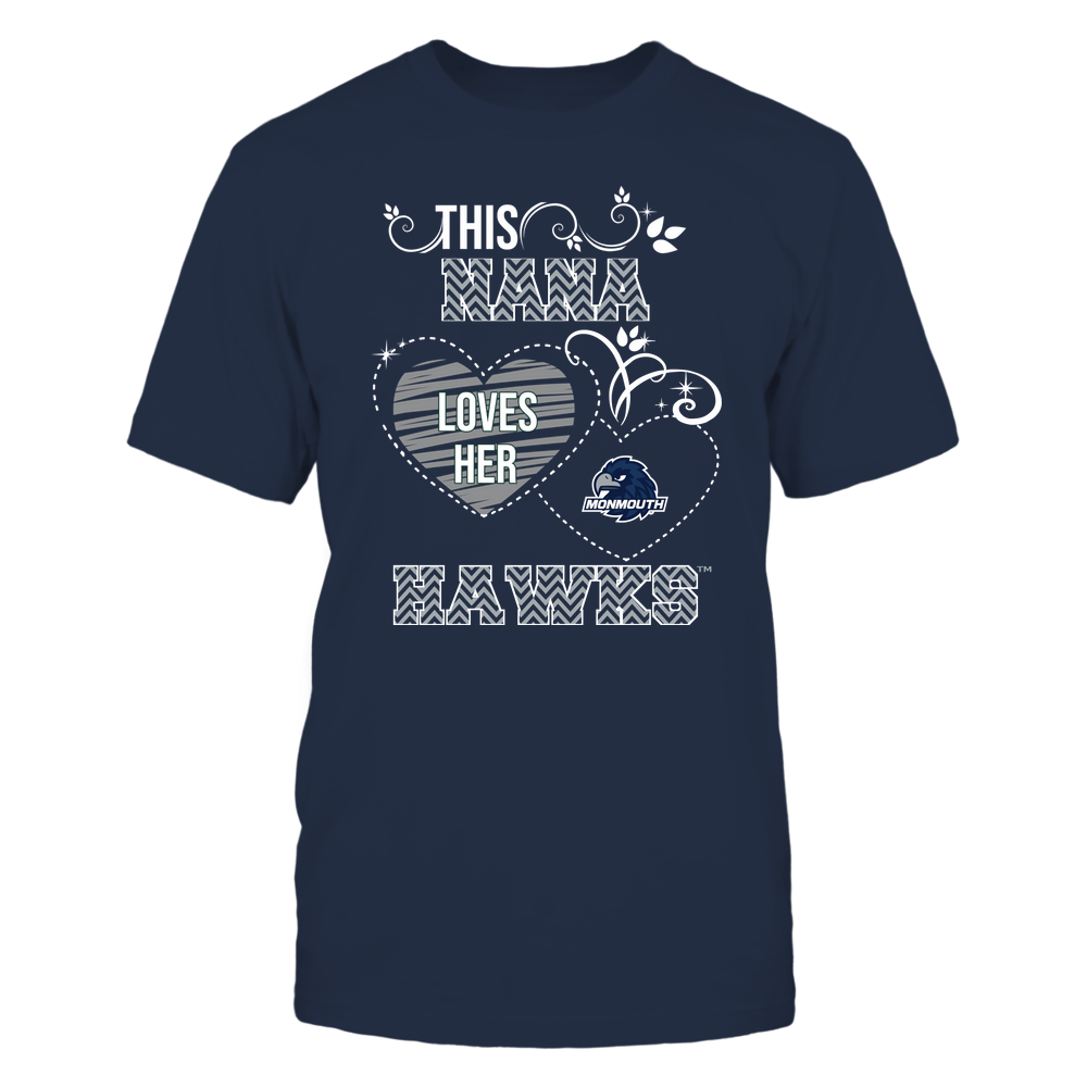 Monmouth Hawks - This Nana Loves Team - Mascot - Chevron Pattern Front picture