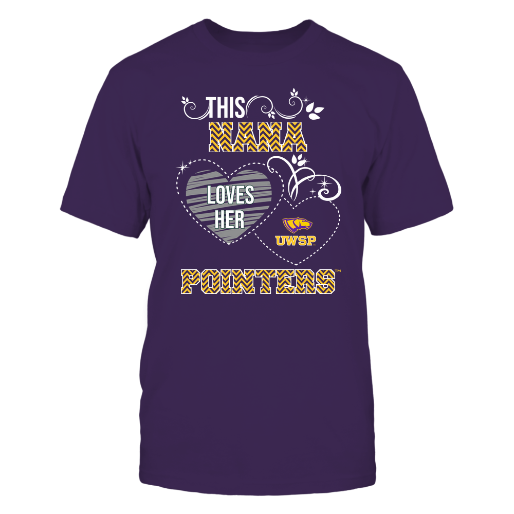 Wisconsin-Stevens Point Pointers - This Nana Loves Team - Mascot - Chevron Pattern Front picture
