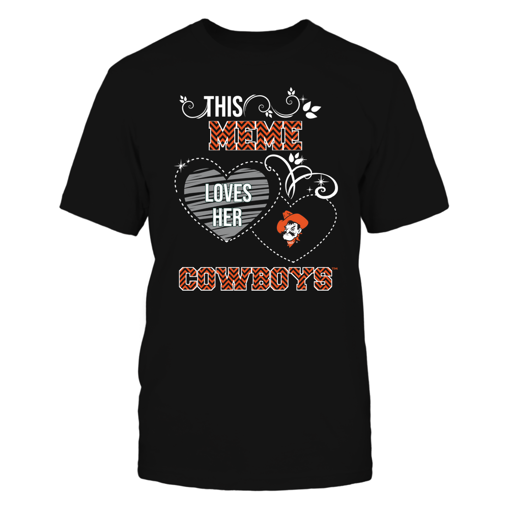 Oklahoma State Cowboys - This Meme Loves Team - Mascot - Chevron Pattern Front picture