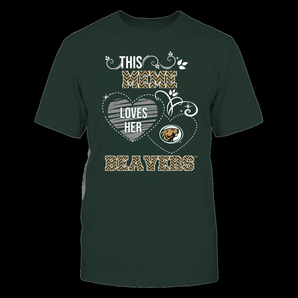 Bemidji State Beavers - This Meme Loves Team - Mascot - Chevron Pattern Front picture
