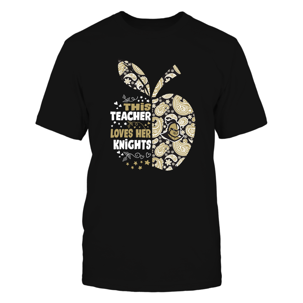 UCF Knights - Paisley Half Apple  - This Teacher Loves - IF82-IC82-DS37 Front picture