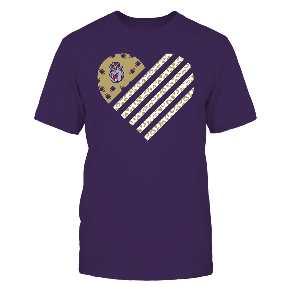 James Madison Dukes - Football - Leopard Flag - Heart Front picture