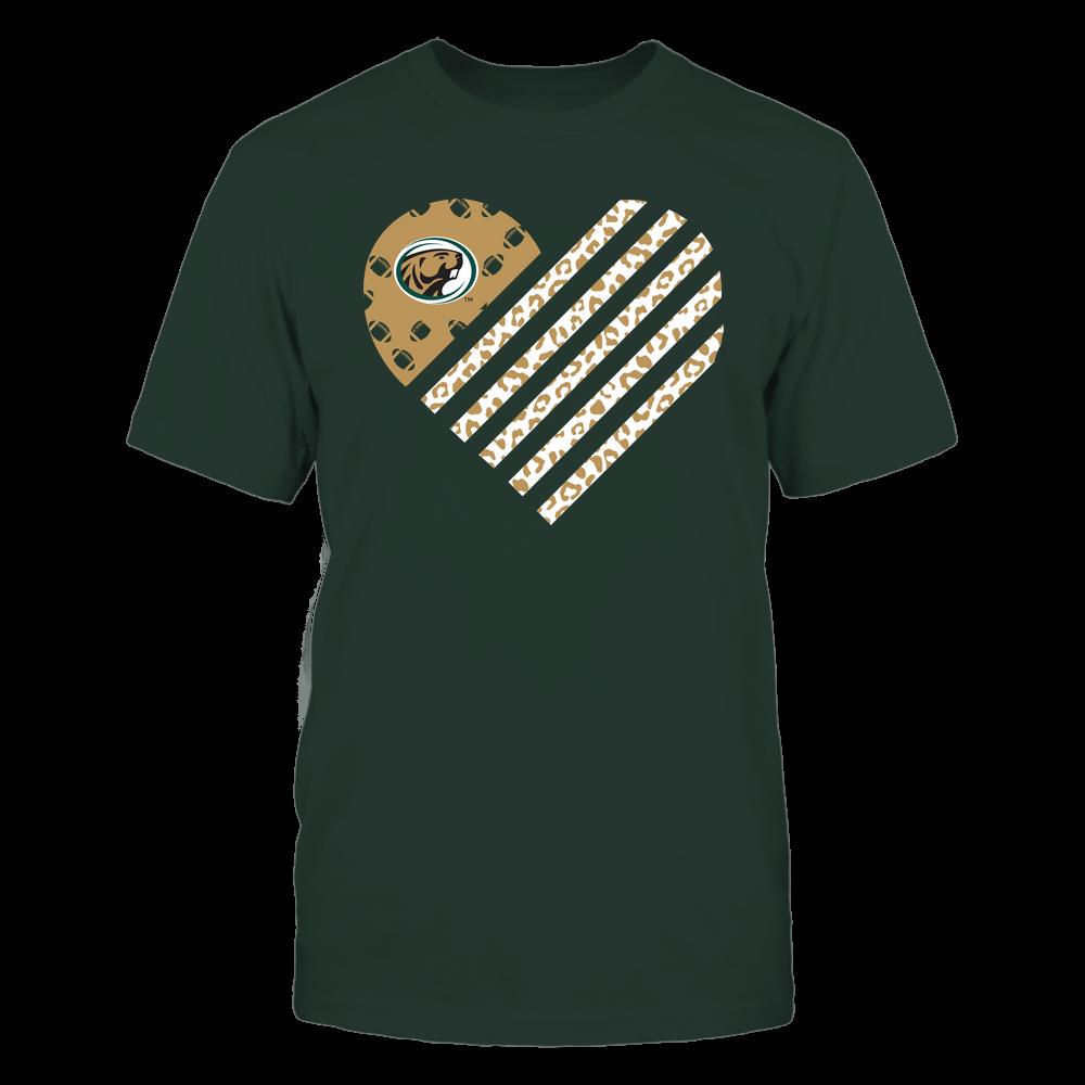 Bemidji State Beavers - Football - Leopard Flag - Heart Front picture